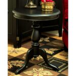 lovable pedestal accent table with round tempered design kitchen gorgeous uttermost agacio black and glass top outdoor side target chairs chinese porcelain lamps metal cooler for 150x150
