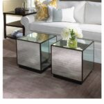love this antique mirrored cube mitchell gold bob williams accent table great coffee side tables night stands west elm dishes yellow target contemporary lamp for living room lamps 150x150