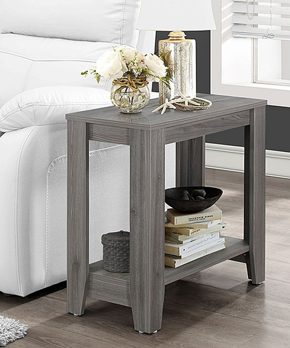 love this monarch specialties gray accent table janika zulily zulilyfinds teak sidetable tall hallway cabinet west elm bedding pottery barn wall desk chair cover factory ikea