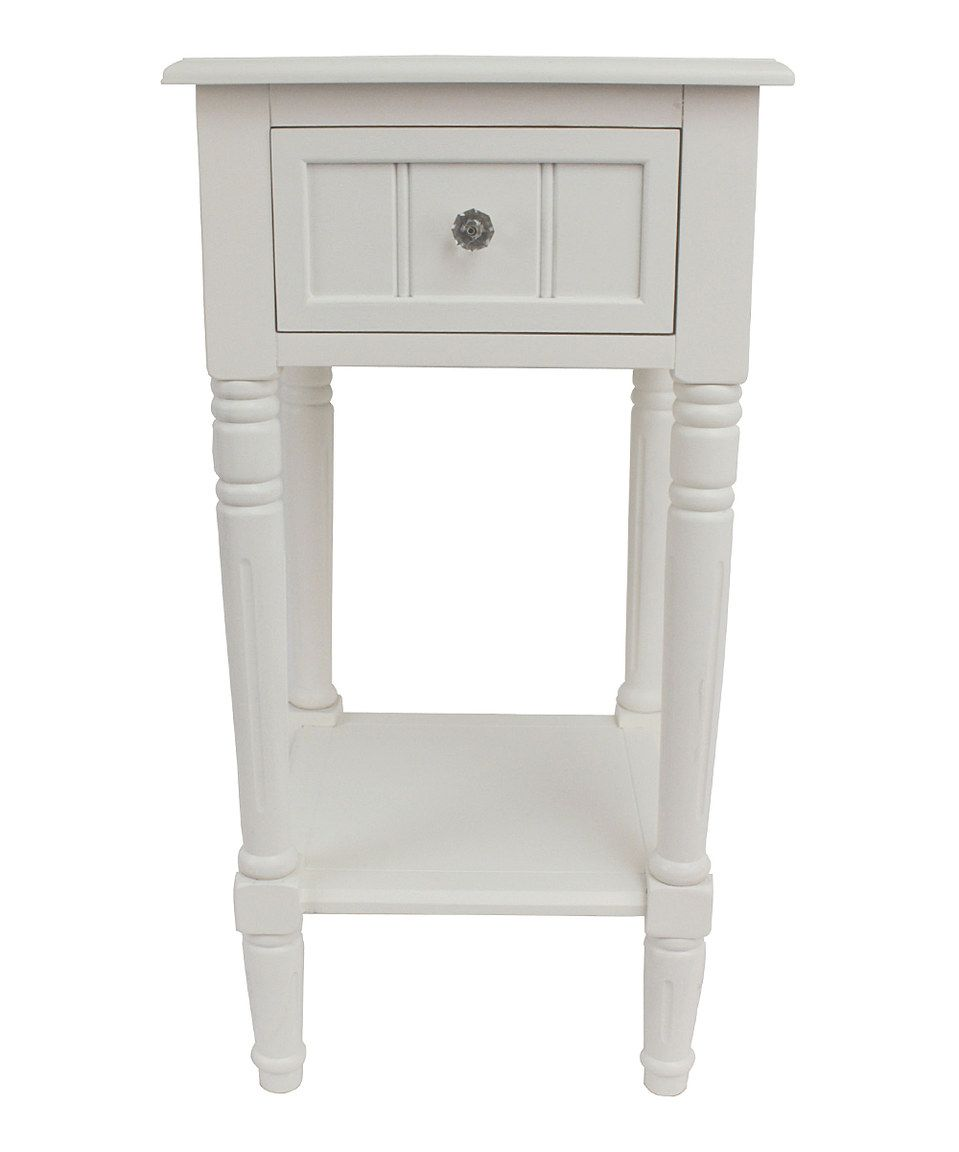 love this white square accent table hunt home zulily small zulilyfinds cedarwood furniture weber charcoal grill side glass patio marble weathered gray bar wine rack nautical globe