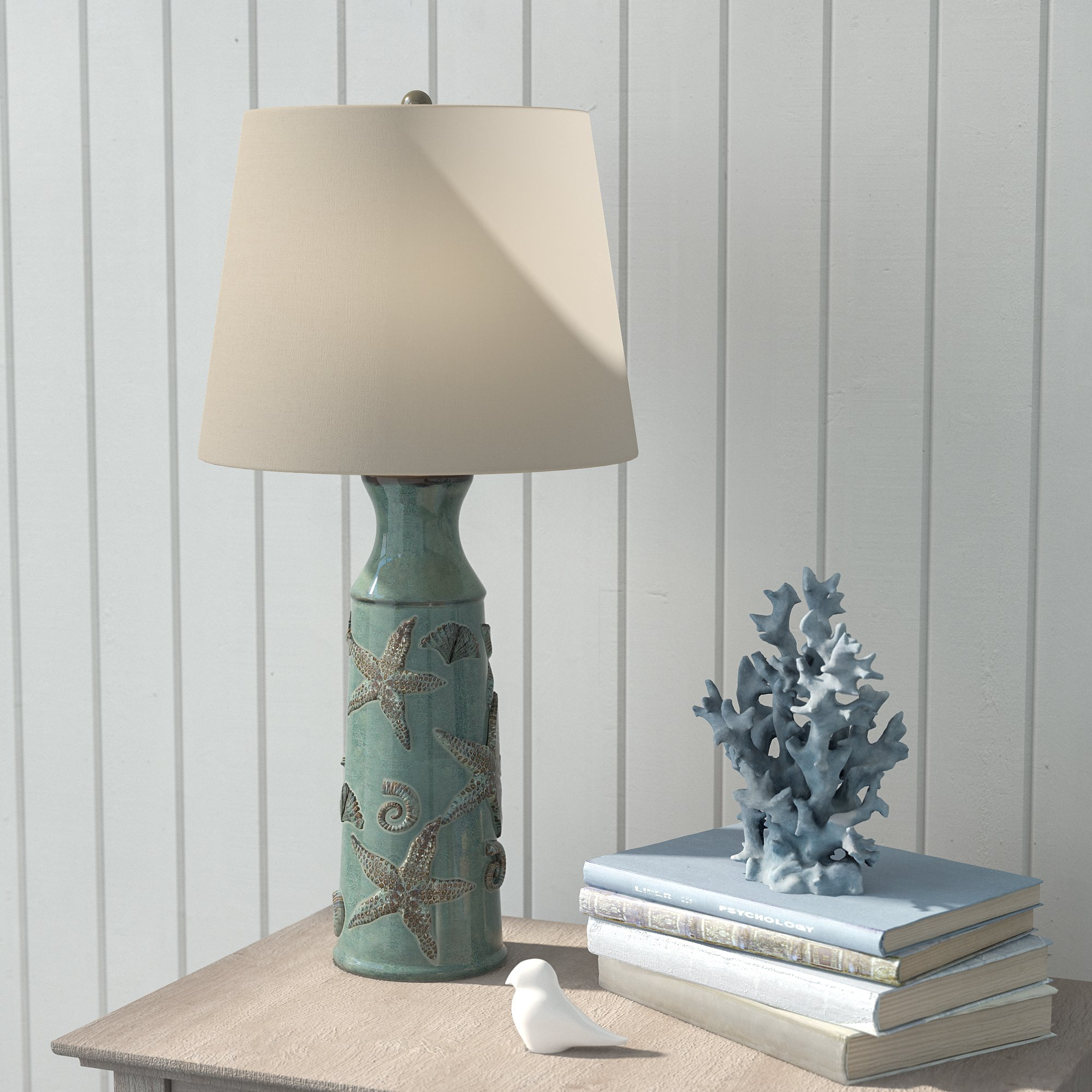 lovely ceramic table lamps coastal style accent base inside outstanding starfish lamp design ideas gold with marble top rattan side outdoor black freedom tables dark wood console