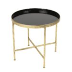 lovely round metal accent table with tables decor kate and laurel deliah end wood glass foyer upholstered dining room chairs steel side console shoe storage vintage brass clear 150x150