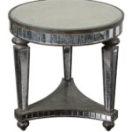 lovely round mirrored end table for coffee best old and vintage accent with shelves black bedside baroque chair ott trestle bench legs west elm globe lamp hampton bay patio dining 150x150