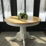 lovely shabby chic round kitchen table encourage vintage wooden accent rustic entryway farmhouse paper tablecloths chest coffee wood dining cherry room small and bench set gold 150x150