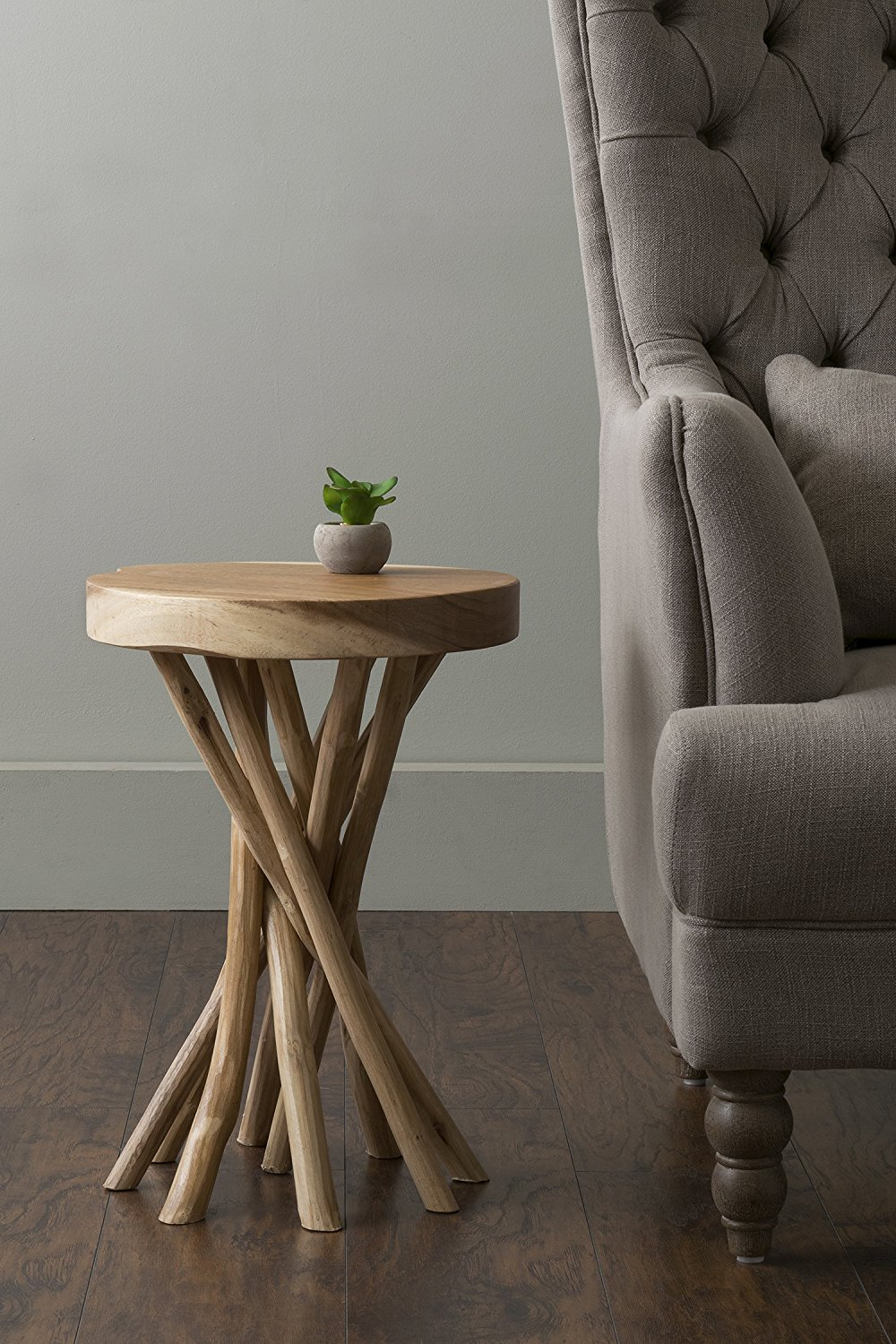 lovely small accent table for round wood end tables rustic kitchen furniture western style beach chairs bunnings glass plant stand counter height dining room sets target cabinet