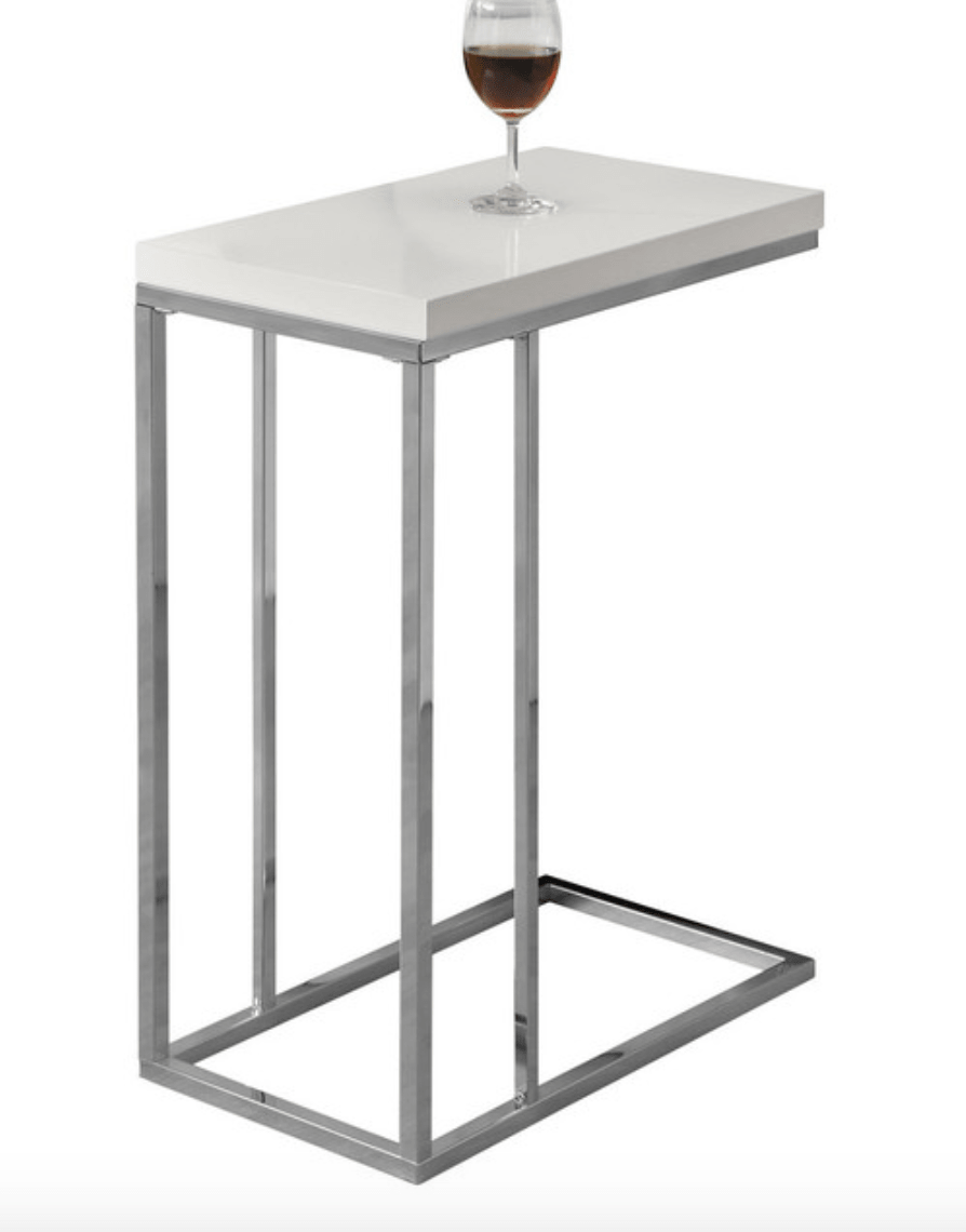 lovely small accent table for white and chrome min tall modern rectangle target patio dining chandelier nightstand lamp counter height blue living room gold with glass top