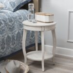 lovely small accent table for white round bedroom min rustic compact with lower and upper shelf battery operated decorative lamps mirrored couch big bedside rubber carpet edging 150x150