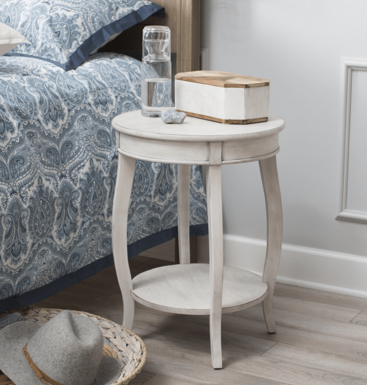 lovely small accent table for white round bedroom min rustic compact with lower and upper shelf battery operated decorative lamps mirrored couch big bedside rubber carpet edging