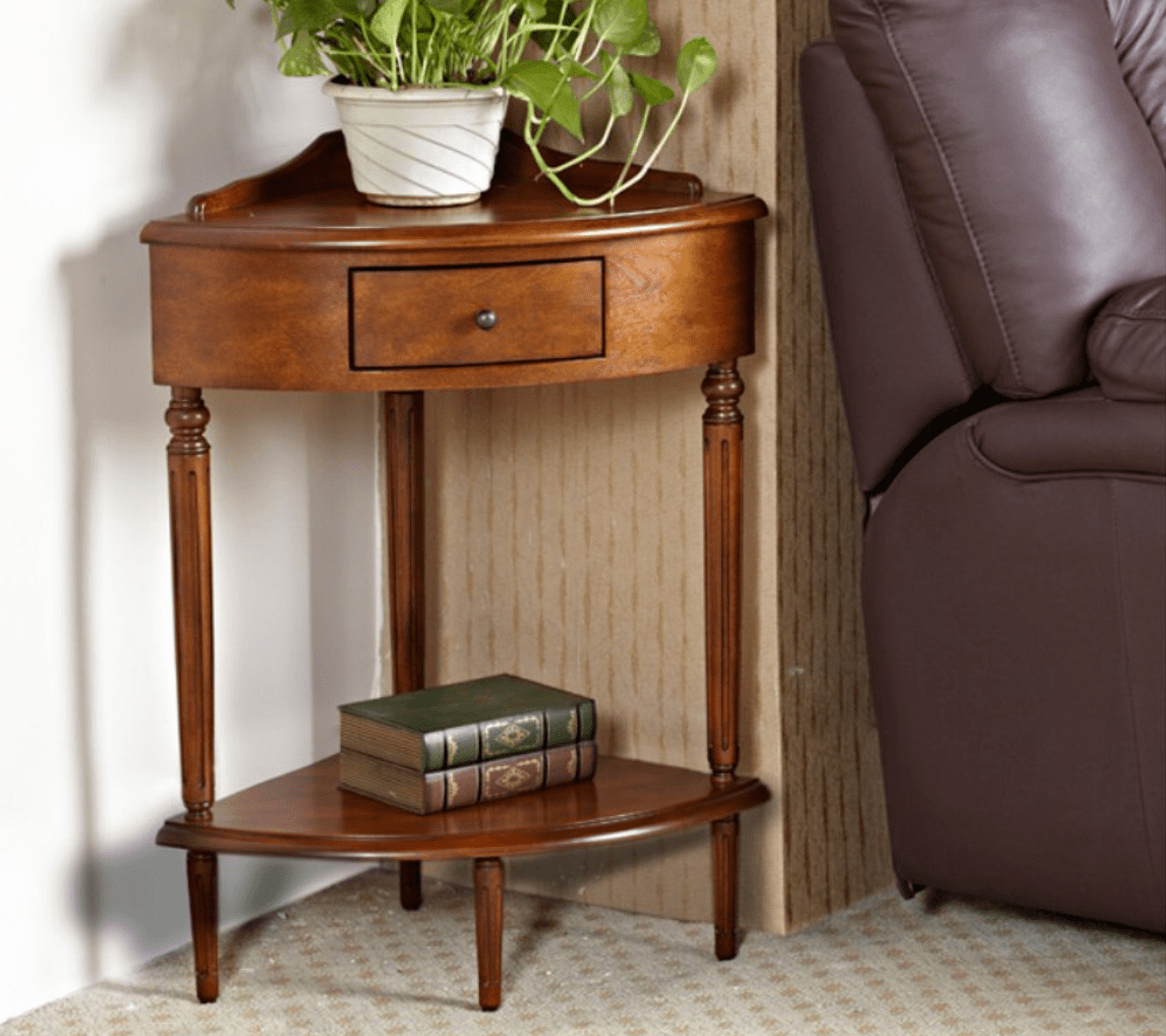 lovely small accent table for wood corner compact min end tables with shelves baker dining room making silver bath and beyond food processor round white cocktail decor retro