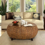 low round accent coffee table gold patina with screw legs clear lucite garden storage box bathroom towels avani drum high top dining set ikea kallax boxes stratford wicker folding 150x150