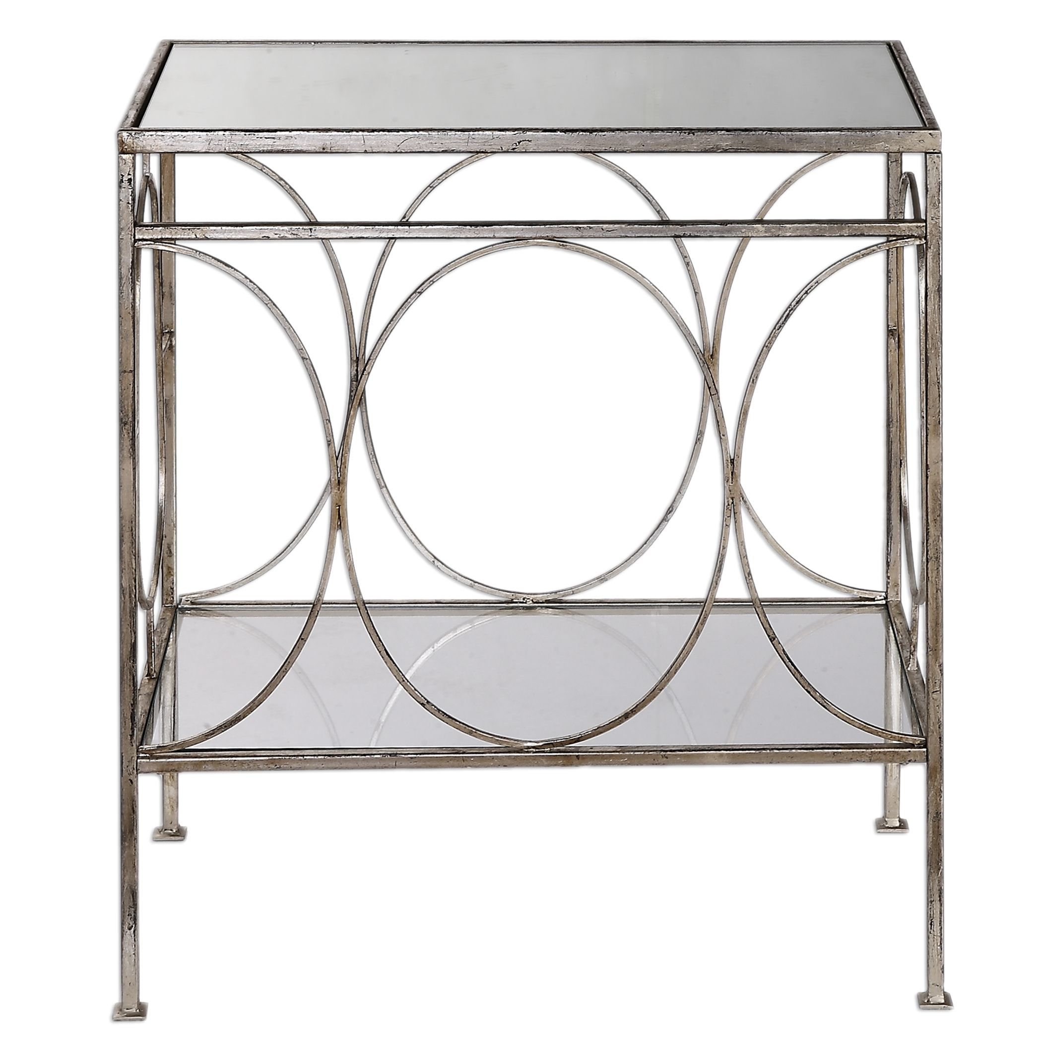 luano transitional distressed antique silver accent table uttermost tilt umbrella with stand rustic nightstands small contemporary end tables room essentials white single barn