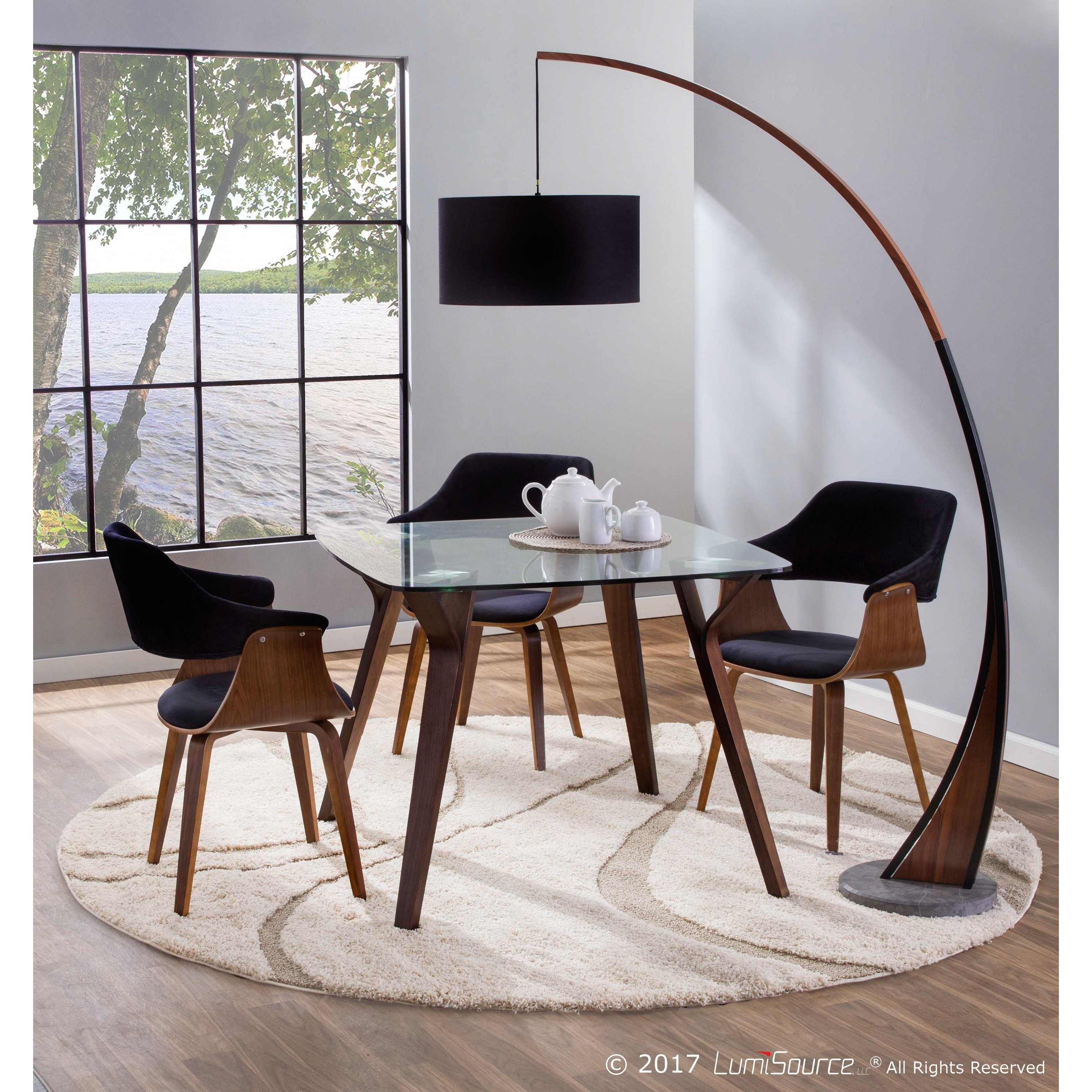 lucci mid century modern dining accent chair walnut and velvet room table with chairs free shipping today west elm marble wide door threshold hampton bay patio furniture