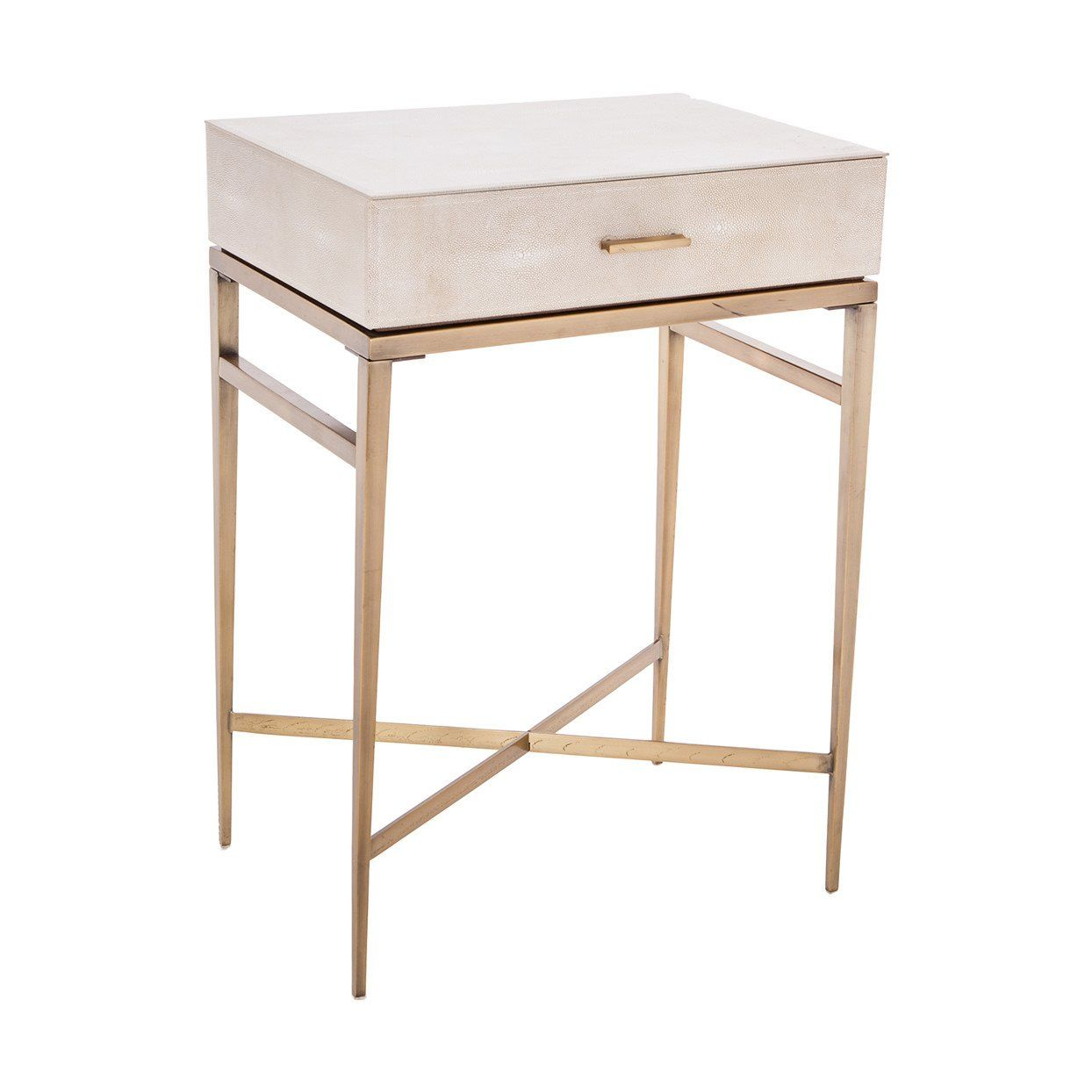 lucile taupe shagreen gold side table ping accent with drawer shropshire design kitchen console painted bedside chests threshold dining cover oval shape pier one outdoor pillows