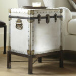 ludlow trunk side table pottery barn media flower accent small glass lamp linen company pier one imports sofas antique stools oil rubbed bronze beach themed chandelier white round 150x150