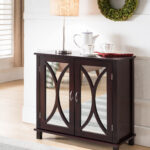 luke espresso wood contemporary accent entryway display console table with doors mirrored cabinet door storage small modern glass coffee round dining cloth dale lamps narrow entry 150x150