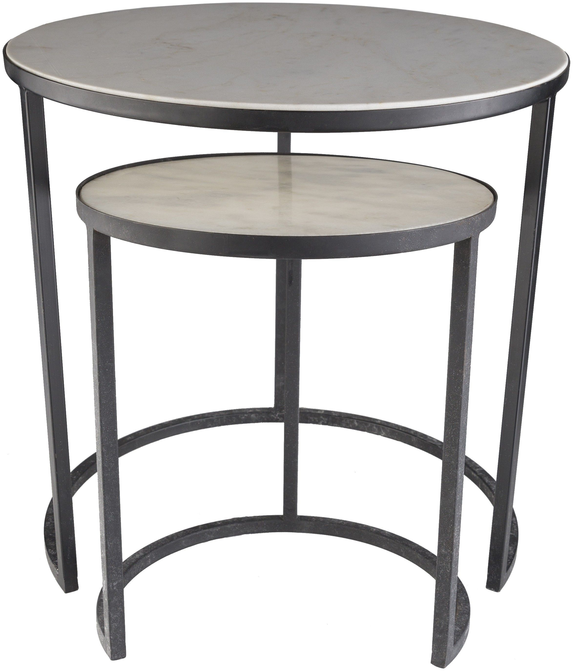 lulu clea nesting tables iron marbles and industrial knurl accent set plastic garden storage boxes drum table chic entrance hall small deck chairs two living room tall mirrored