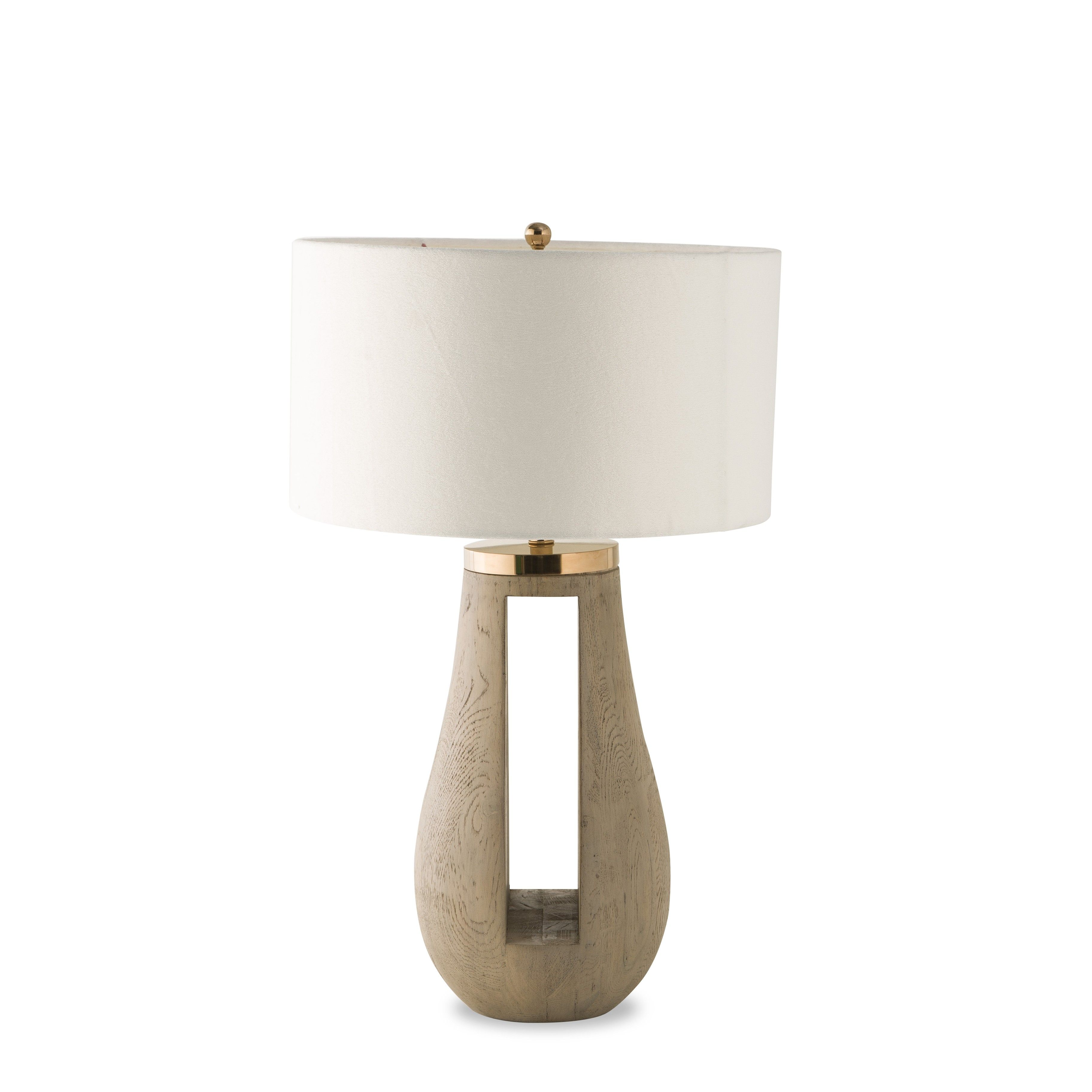 lulu kelly hoppen gray table lamp marina gold accent lamps our features the unique combination rustic wood and glamorous with modern cutout down middle elegant piece for living