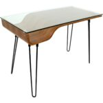 lumisource ofd avery desk curved walnut finish black glass top accent table hairpin legs contemporary sofa design brown nightstand pub with chairs french beds unfinished coffee 150x150