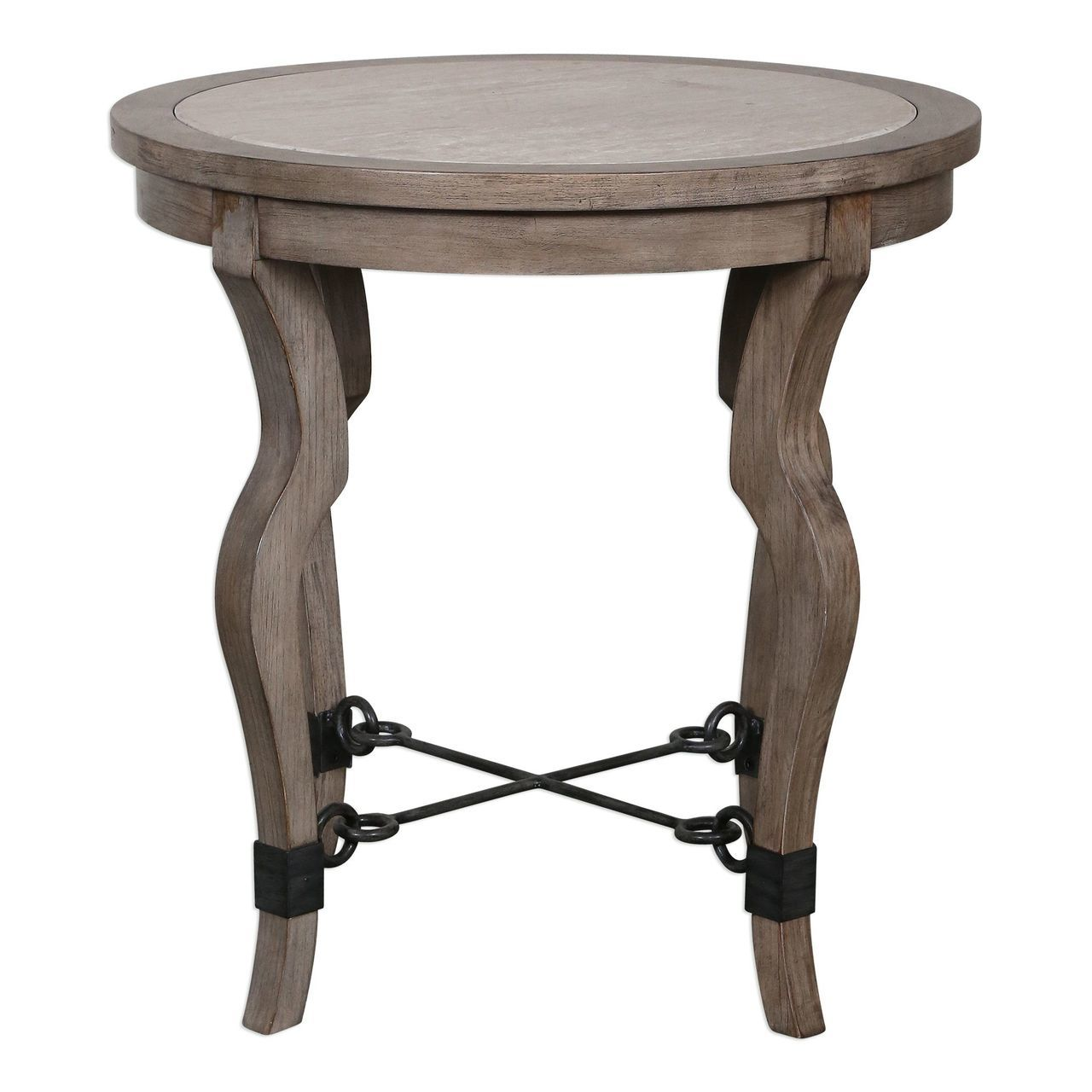 luxe curved weathered wood round accent table travertine inlay metal and light stone homemade runners computer furniture long reclaimed wrought iron end tables inch dining marilyn