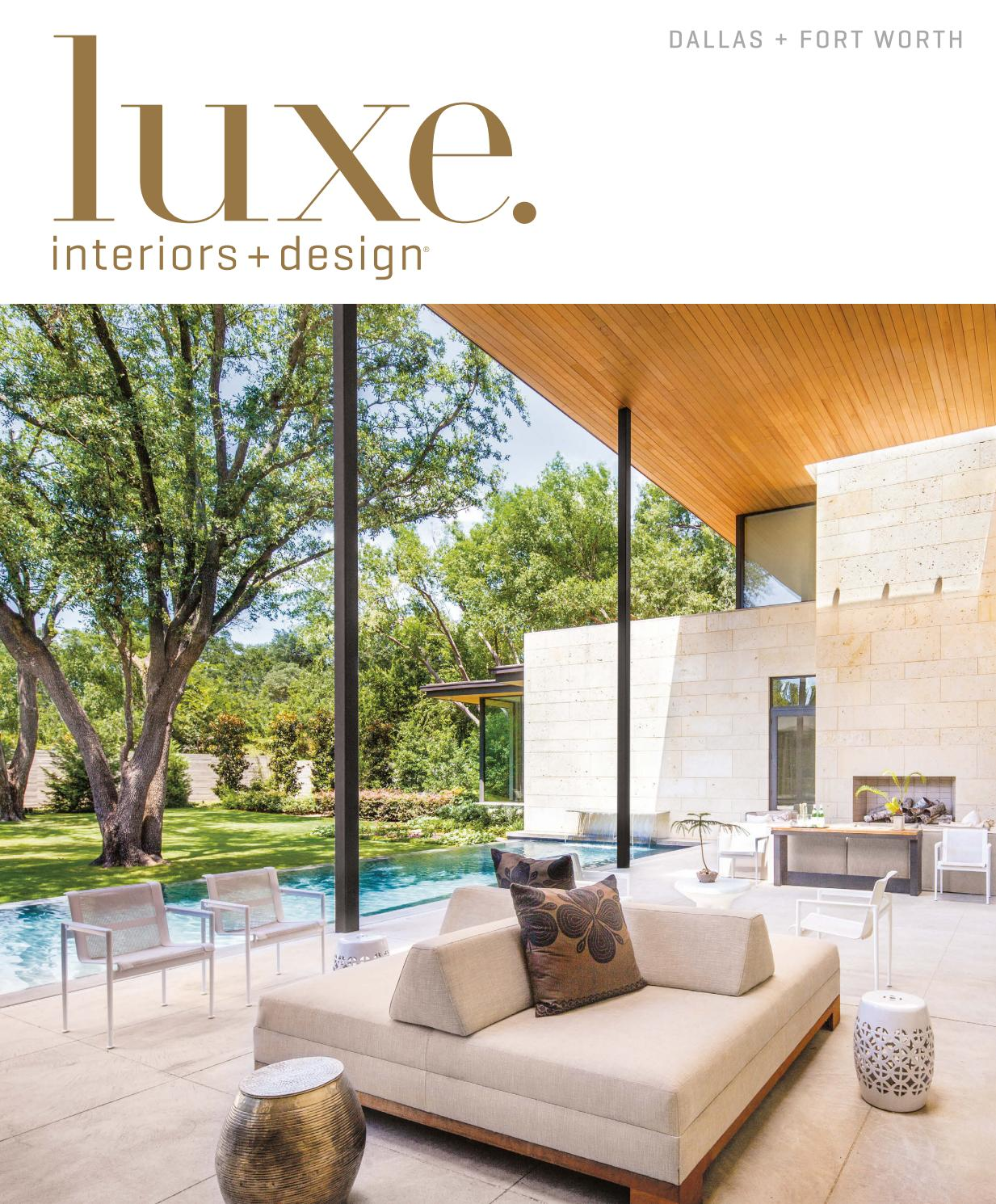 luxe magazine dallas sandow issuu page miles redd kidney accent table solid oak tables formal dining room martin furniture desk farmhouse style coffee jcpenney end white wicker