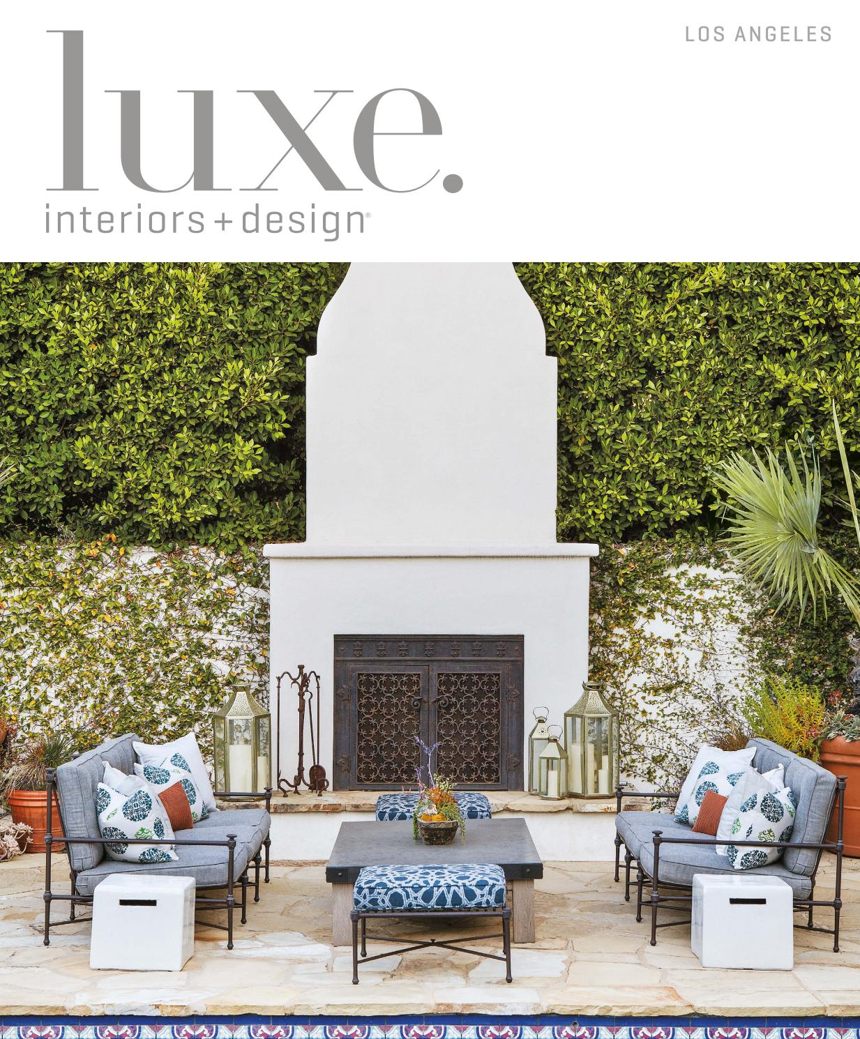 luxe magazine los angeles sandow issuu page miles redd kidney accent table inch round tablecloth pier one curtains solid oak tables white cloth placemats wooden trellis small