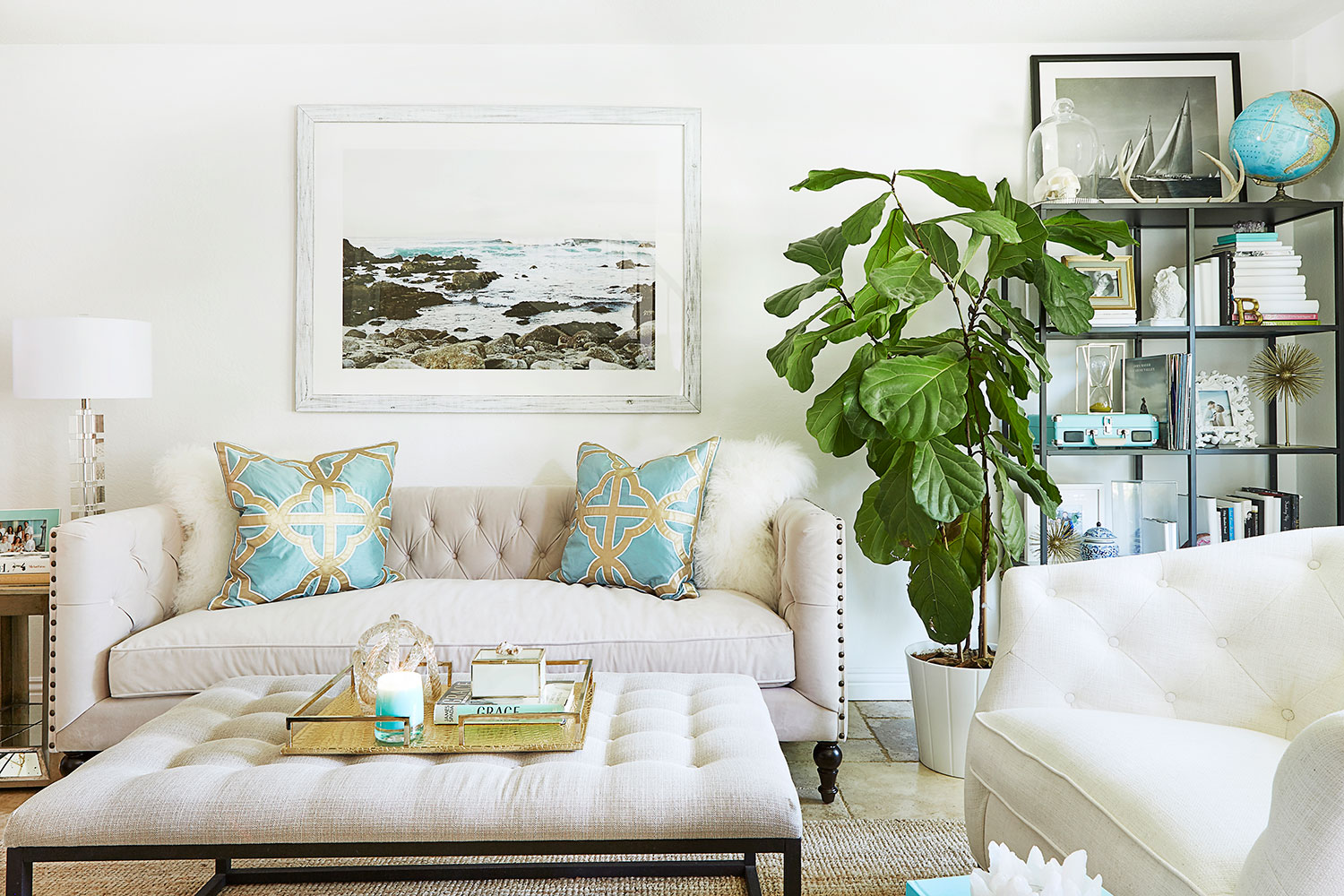 luxe transformation for less with gallerie rue zgallerie accent table starting the sleek roberto sofa kathleen has transformed her living room pieces gold accents such scoppio