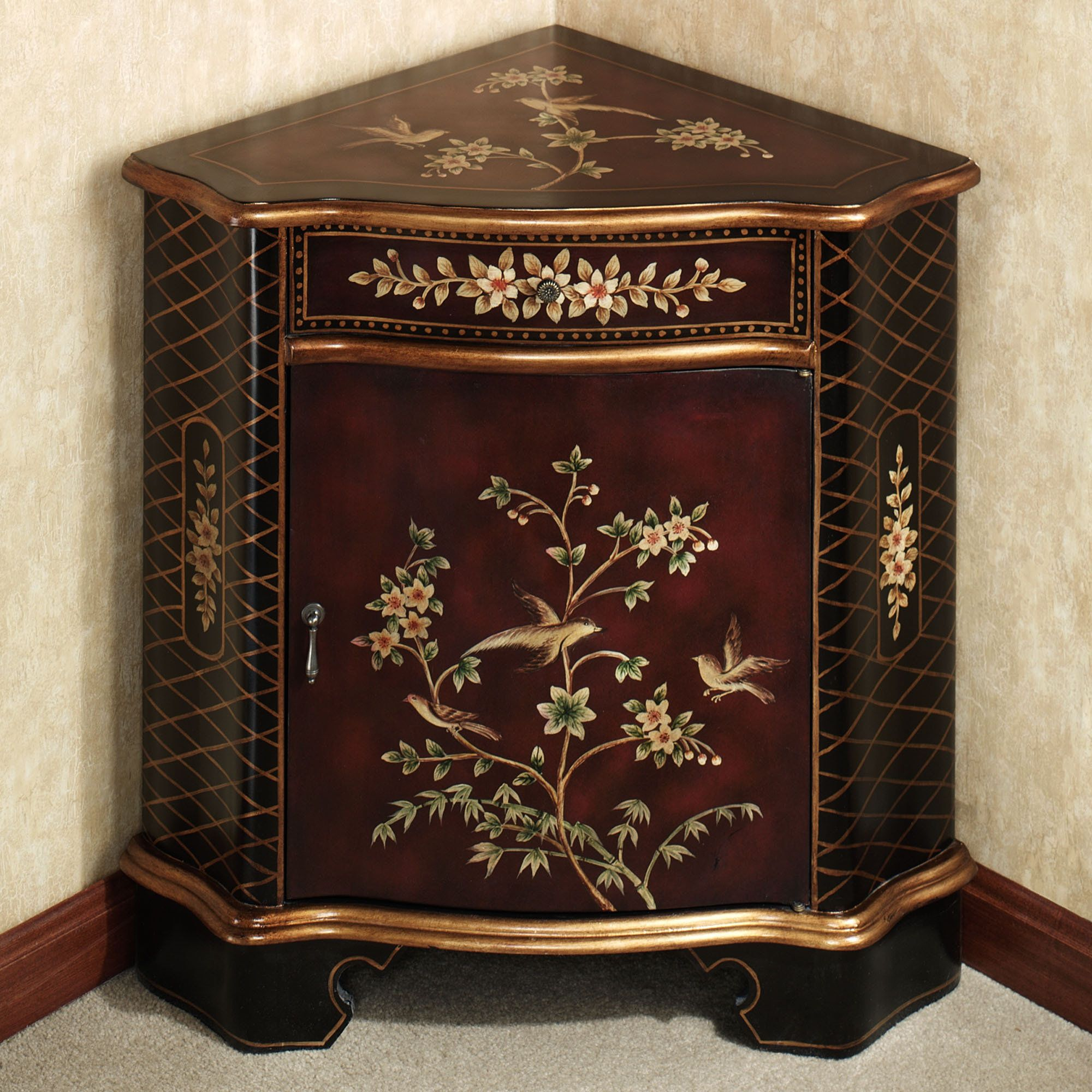 Dining Room Accent Pieces: Luxury Corner Accent Table For Dining Room Annika With