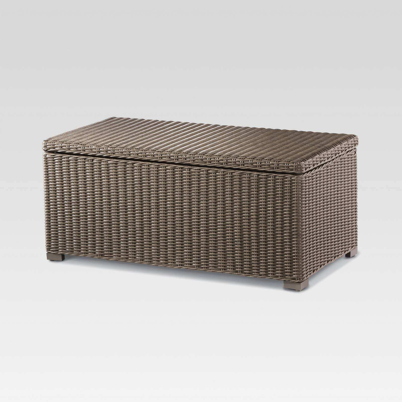 luxury gallery inspirations about threshold wicker patio storage accent table heatherstone trunk coffee bar height bistro set small with folding sides high end green side units