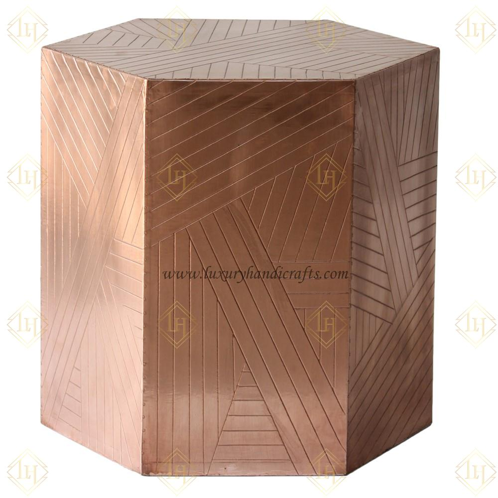 luxury handicrafts bone inlay mother pearl glass large accent table copper hexagonal side black lacquer console west elm parsons coffee bedroom bench target matching bedside