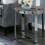 lynn driftwood and chrome accent table retro tulip side marble threshold fretwork grey inch round tablecloth wide nightstand small drop leaf with chairs outdoor bbq diy cocktail 150x150