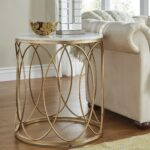 lynn round gold accent tables with marble tops inspire bold end table free shipping today glass bedside drawers garden stool side home goods and chairs low stools bunnings ikea 150x150
