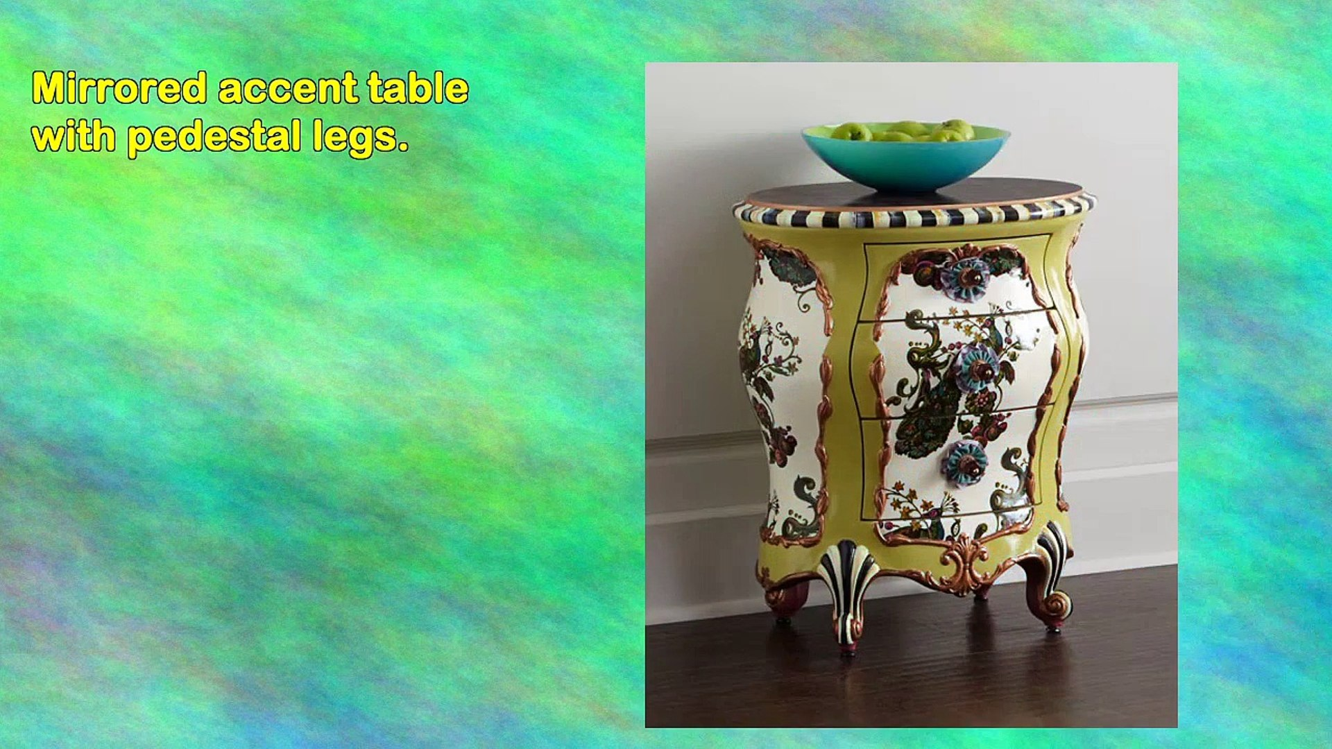 mackenzie mirror accent table video dailymotion kks mirrored kettler garden furniture annie sloan provence outdoor side beverage cooler grey metal west elm bookshelf fabric