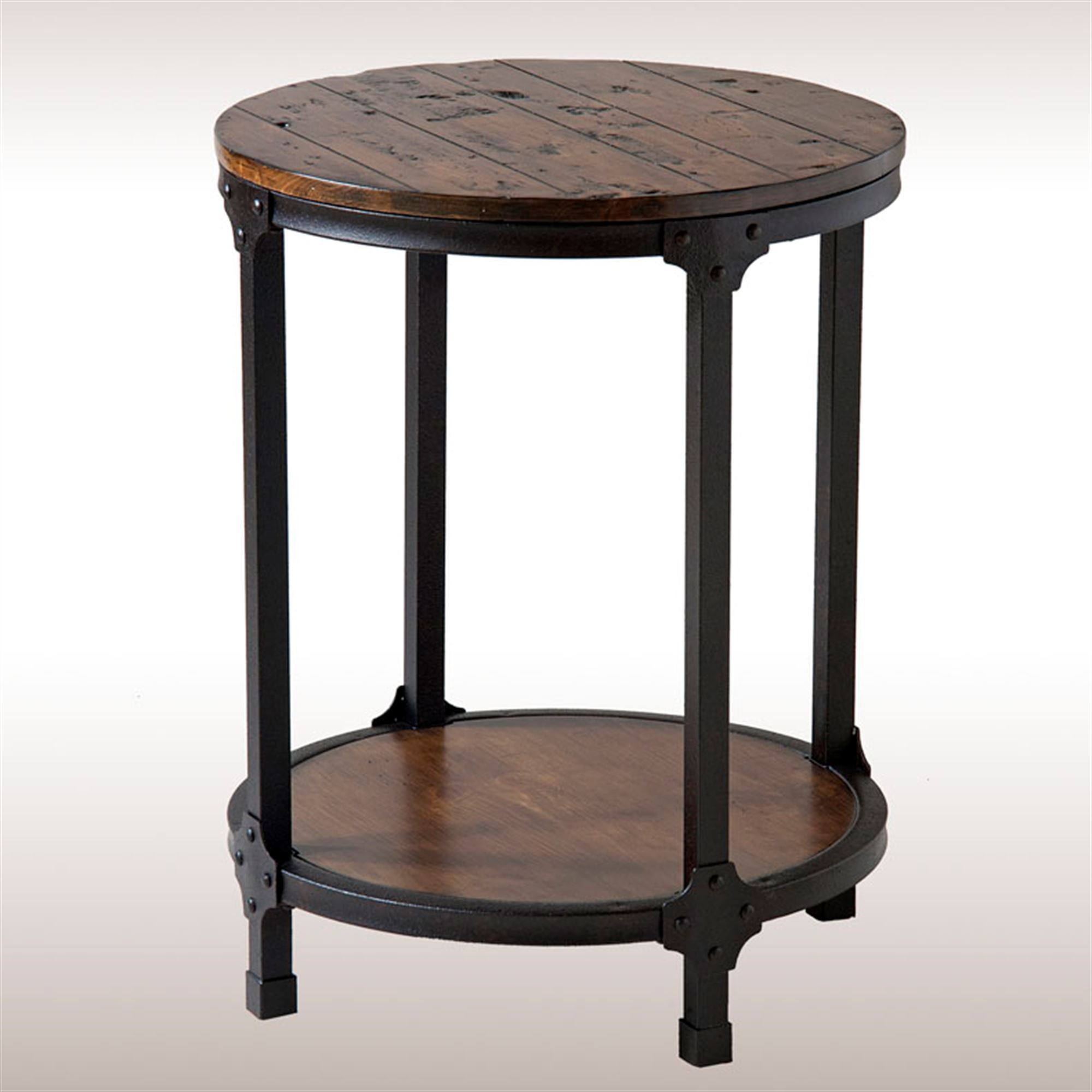 macon rustic round accent table end tables aged brown touch zoom small nightstands for bedroom mirrored bedside units inch deep chest drawers oak mission with tablecloth fitted