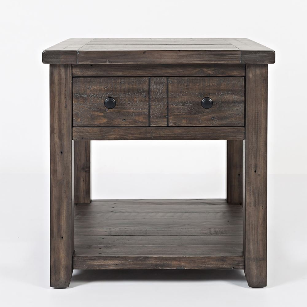 madison country barnwood end table the furniture mart accent ture high gloss side storage with baskets lucite and brass nightstand legs black wood sofa desk home goods runners