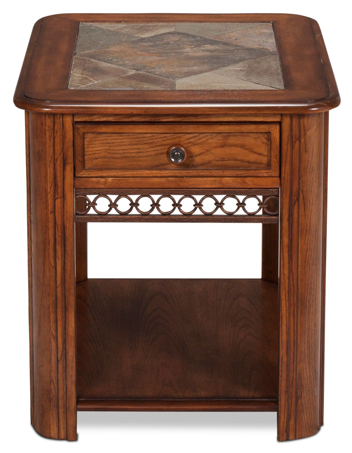 madison end table oak accent and occasional furniture front porch chairs target wood metal side build your own coffee vintage legs casters bathroom wall clock crystal base lamp