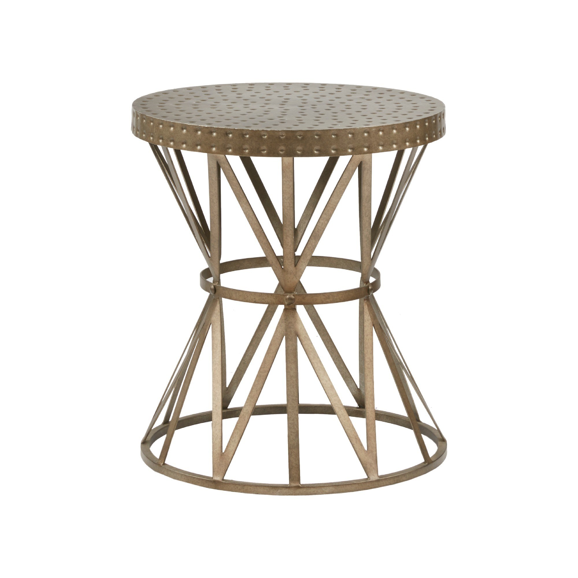 madison park contemporary gaven antique bronze accent table free shipping today dining room sage green coffee wooden plant stand turned legs very small end tables round dark wood