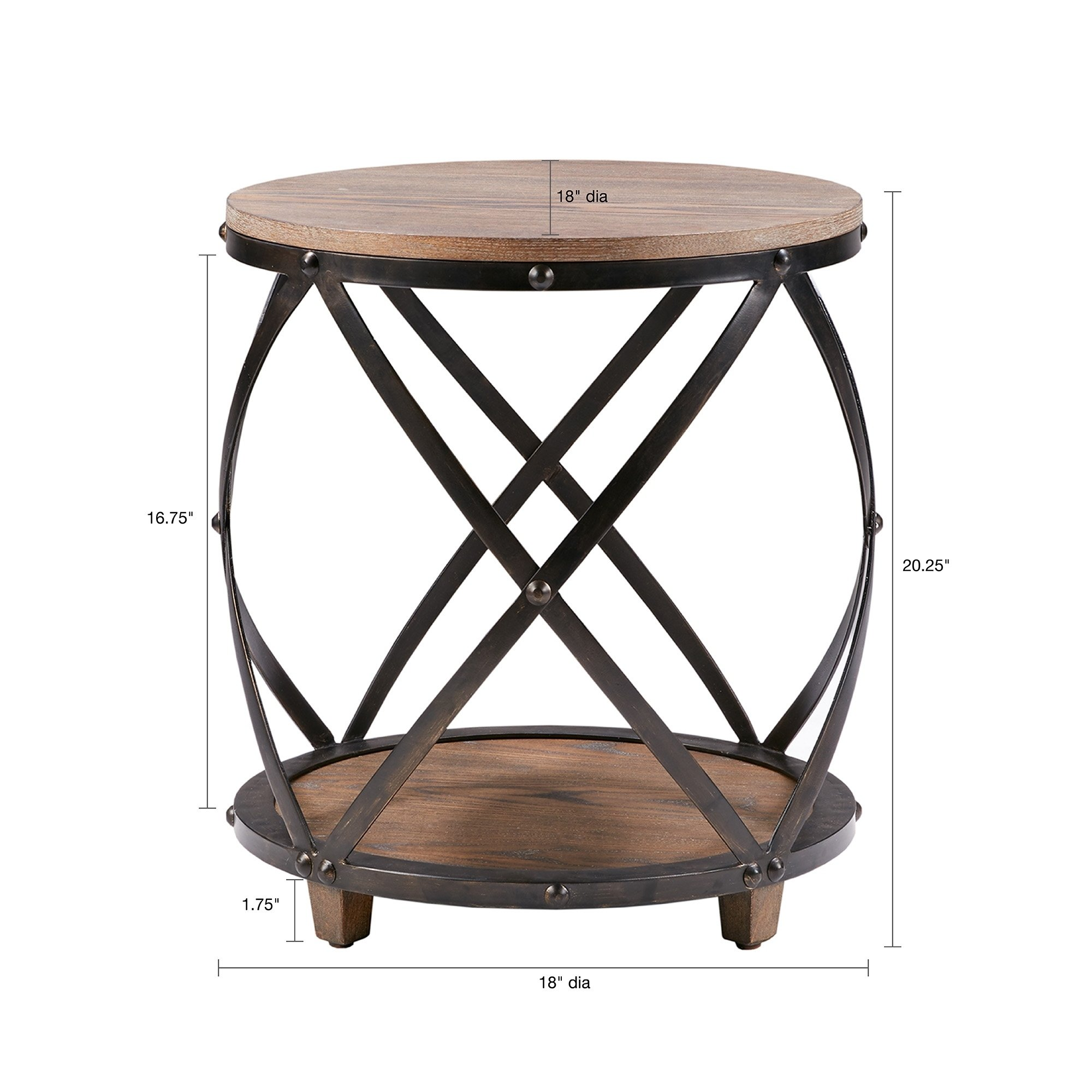 madison park kagen antique bronze bent metal accent table outdoor free shipping today cool nest tables side styles small armchair white round tray faux marble black and patio