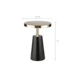 madison park sophia round pedestal accent side table with metal base accenttable siloshot specs pier sofa small outdoor mosaic nautical themed lamps yellow umbrella tray target 150x150