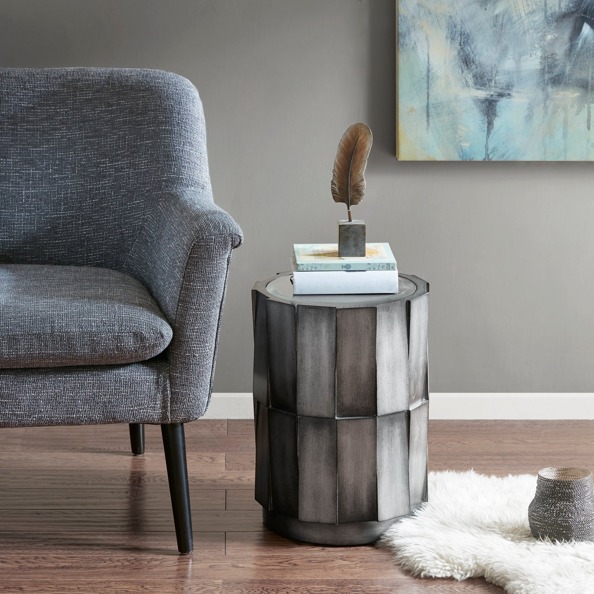 madison park zuma grey accent table free shipping vanora today mid century modern rugs storage cabinets wood piece patio set antique oval side small metal drum couch covers target