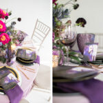 magical styled shoot with unicorns and shades purple nuage fantasy wedding black color palette unicorn magic event ideas accent table for serious invitation inspiration ceci 150x150