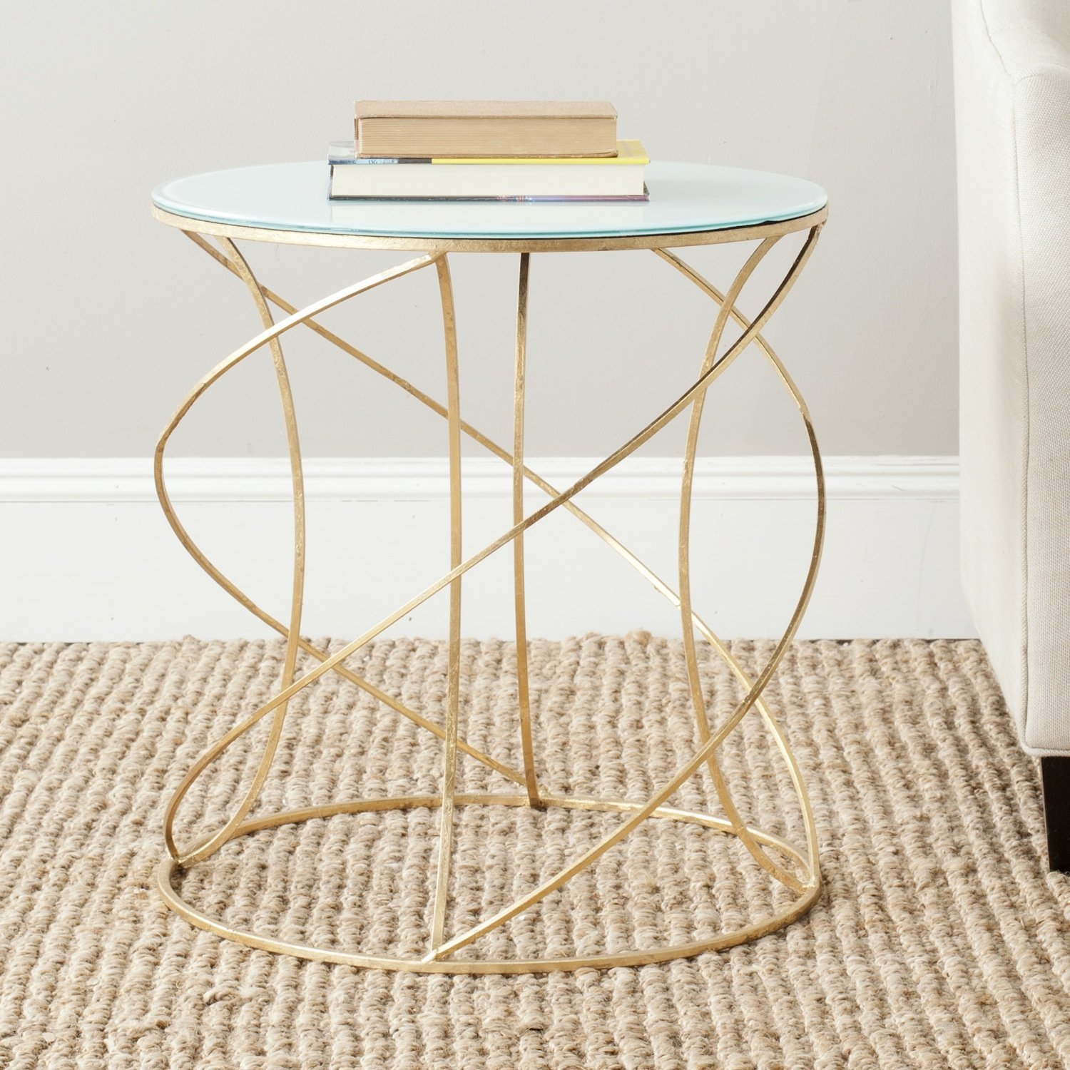 Magnificent Round Metal Drum End Table Glass Style Plans Base Legs