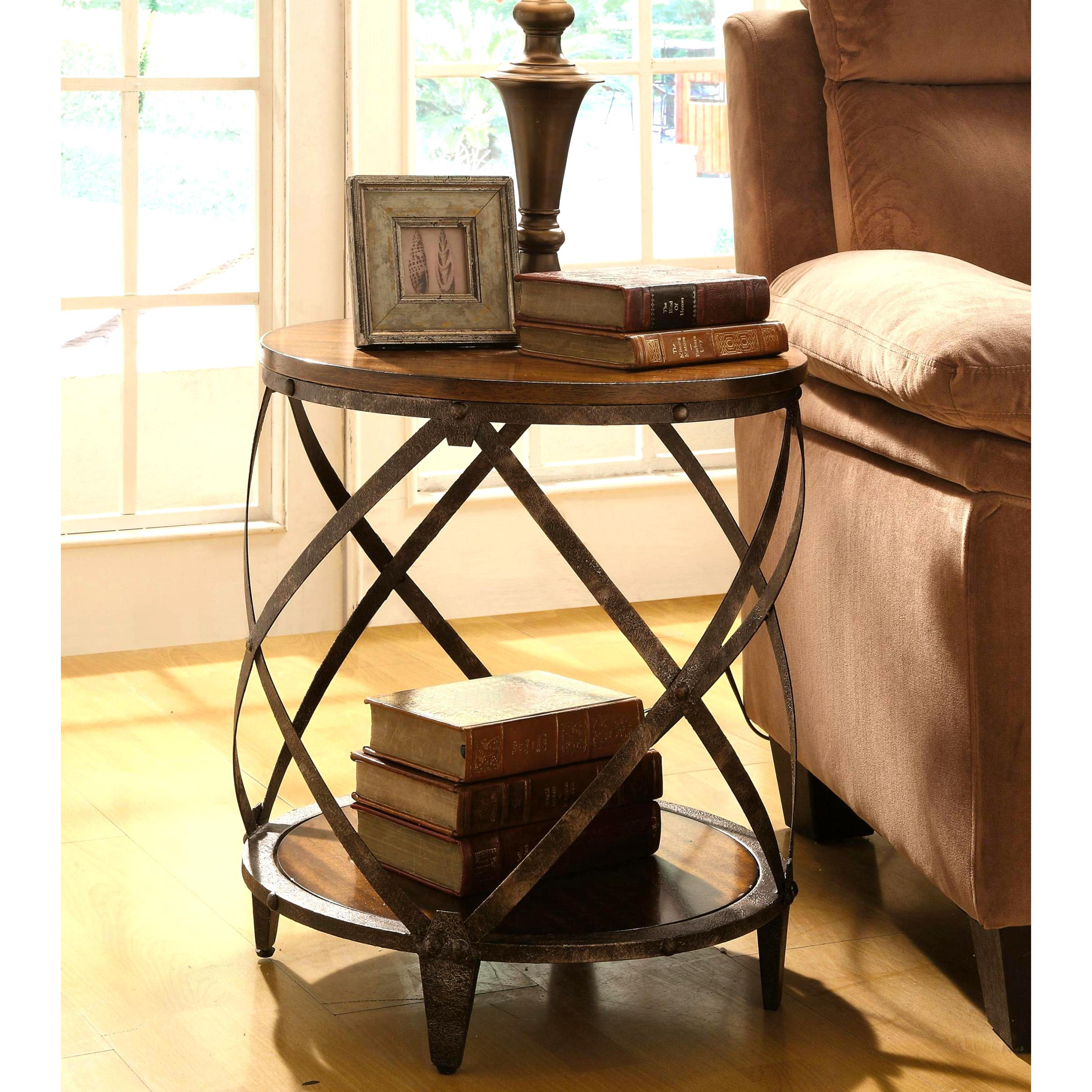 magnison distressed wood metal drum shape accent table free shaped shipping today bathroom towels cabinet door knobs slim storage unit ikea oval glass dining bbq side kitchen