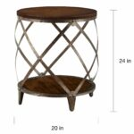 magnison distressed wood metal drum shape accent table free shipping today outdoor cordless lamps clear acrylic trunk coffee silver side neptune dining tables steel and mini 150x150