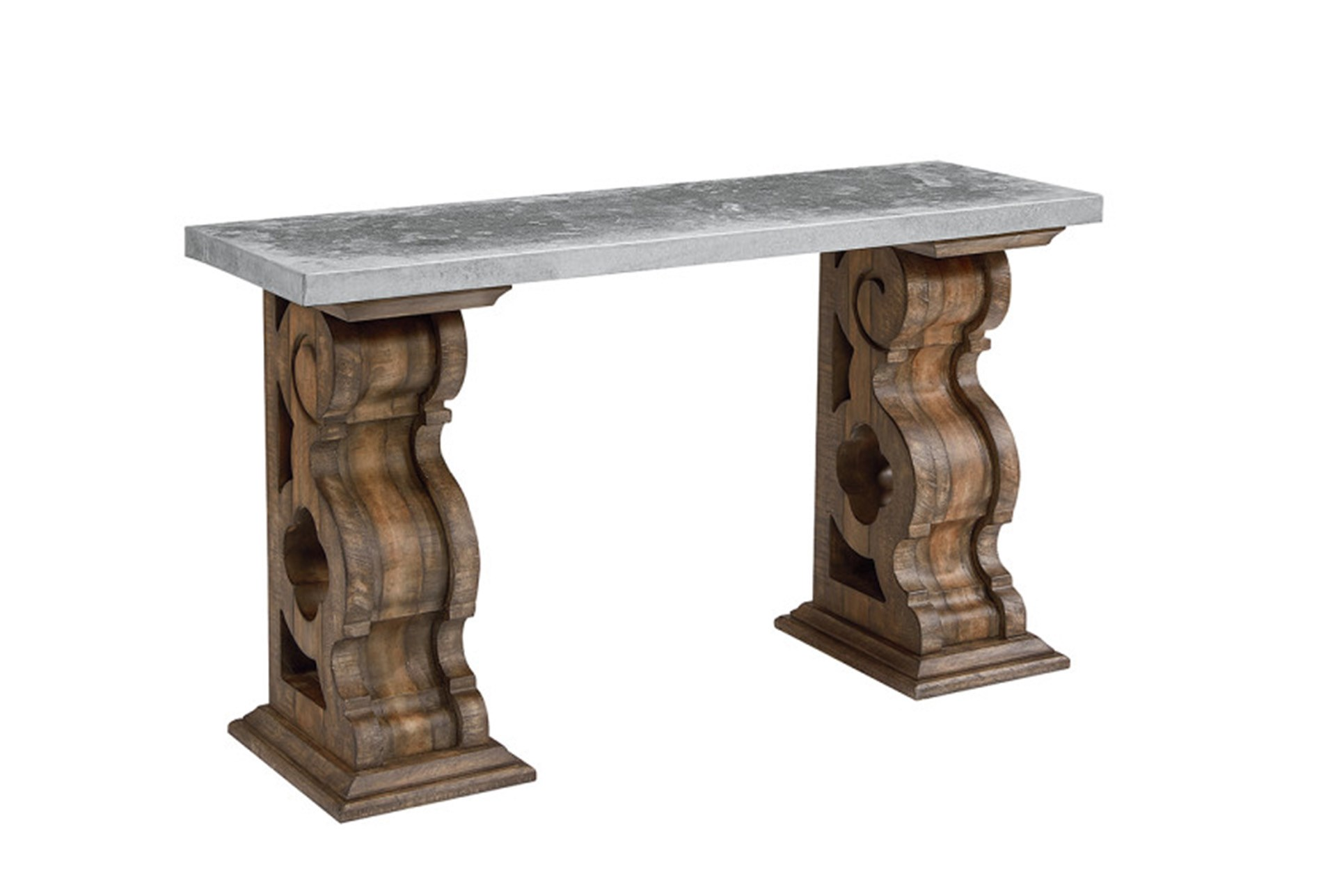 magnolia home double pedestal sofa table with zinc top joanna accent gaines qty has been successfully your cart round side cloth nautical lamps bedroom furniture storage cabinets