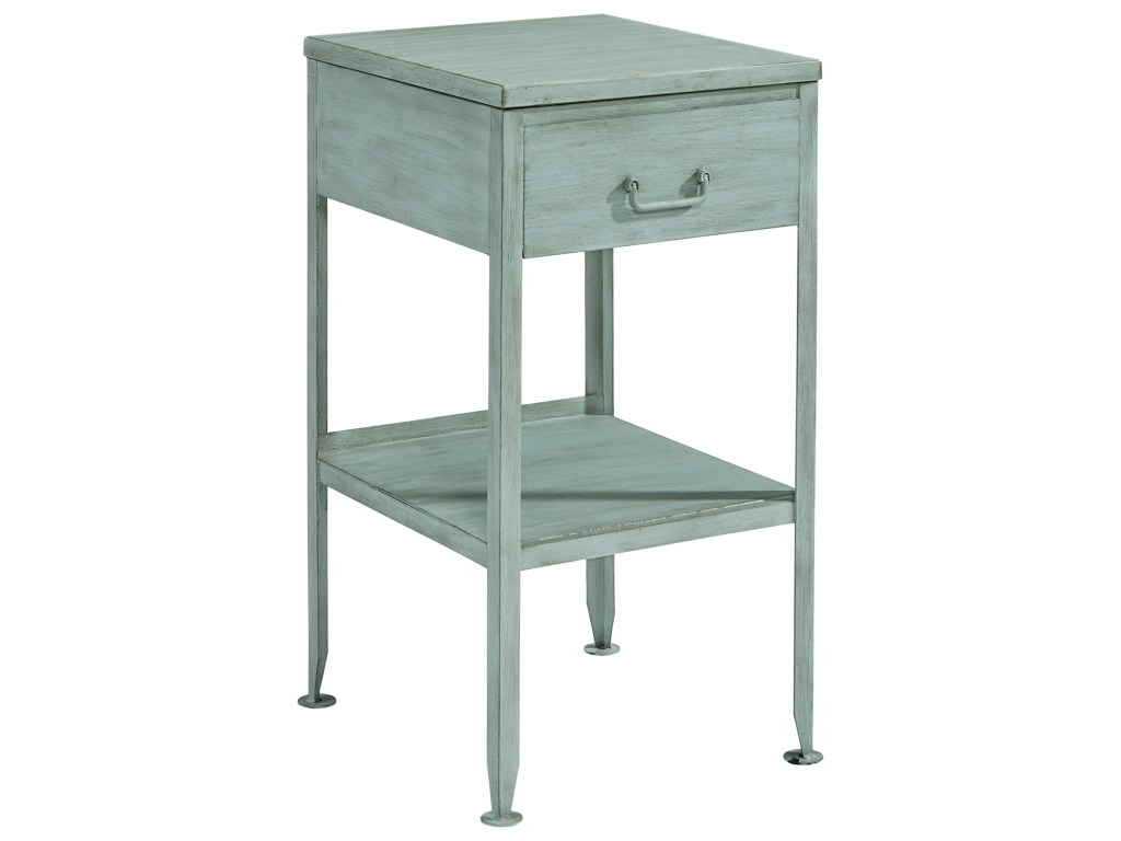 magnolia home joanna gaines accent elements small metal end table products color blue elementssmall side outside market umbrella outdoor console cocktail with hole pottery barn