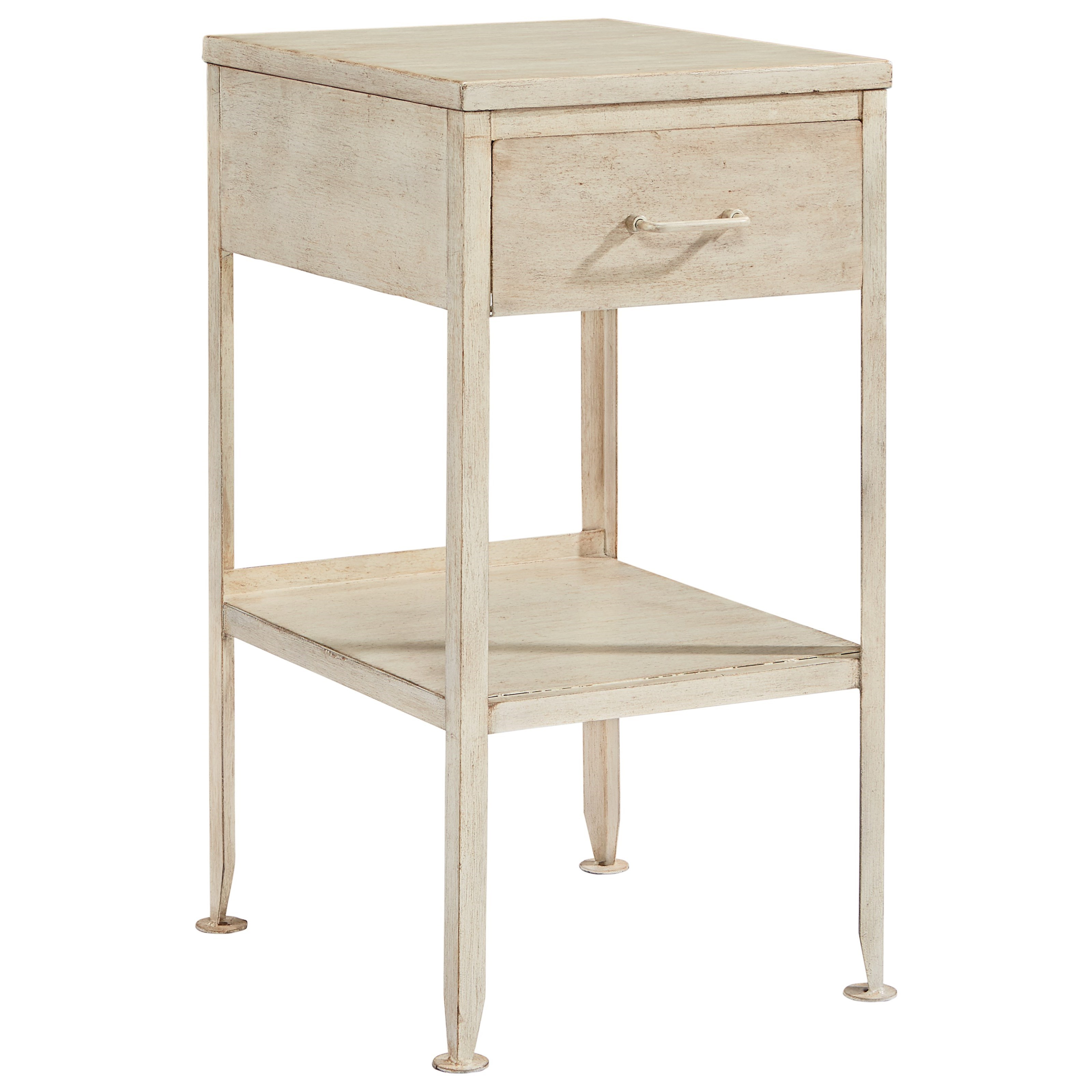 magnolia home joanna gaines accent elements small metal end table products color tables side headboard with shelves plastic square patio set cover clearance living room sets
