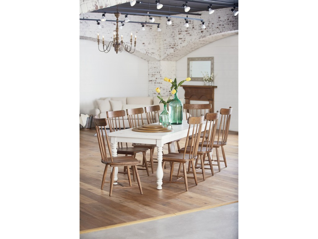 magnolia home joanna gaines farmhouse piece dining set with products color spindle wood accent table chairs and leg nesting beach cottage lighting target furniture coffee