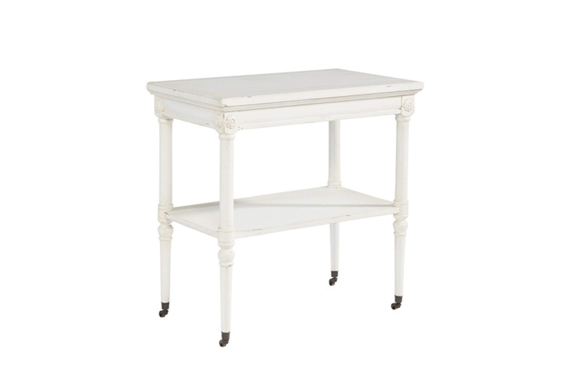magnolia home petite rosette white accent table joanna gaines large qty has been successfully your cart black dining set dark wood occasional tables and chairs with built grill