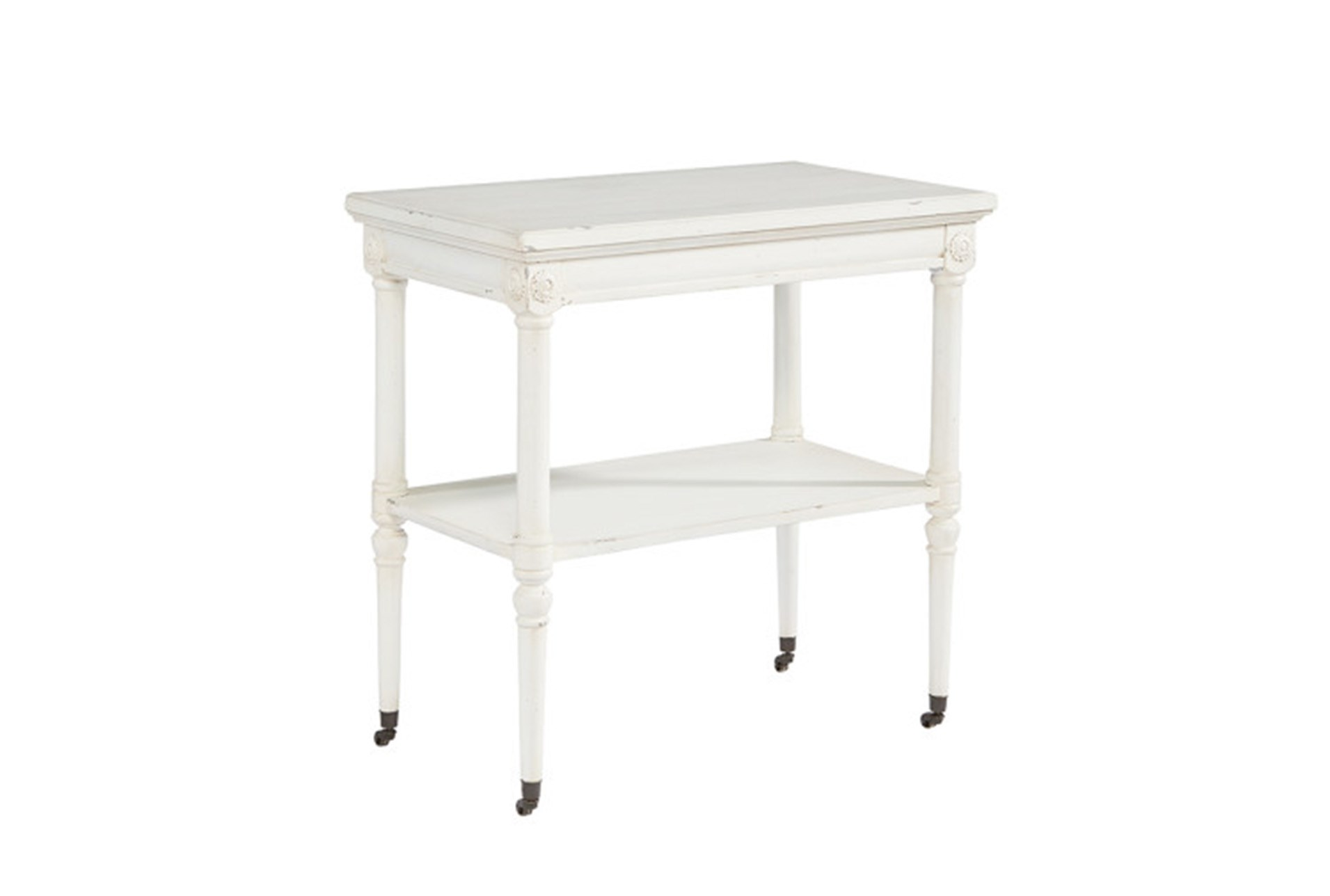 magnolia home petite rosette white accent table joanna gaines qty has been successfully your cart small gas grill glass patio with umbrella hole living spaces end tables farmhouse