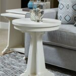 magnussen coventry lane antique white round accent table media gallery target patio dining west elm side chair folding set kids furniture black distressed large garden umbrellas 150x150
